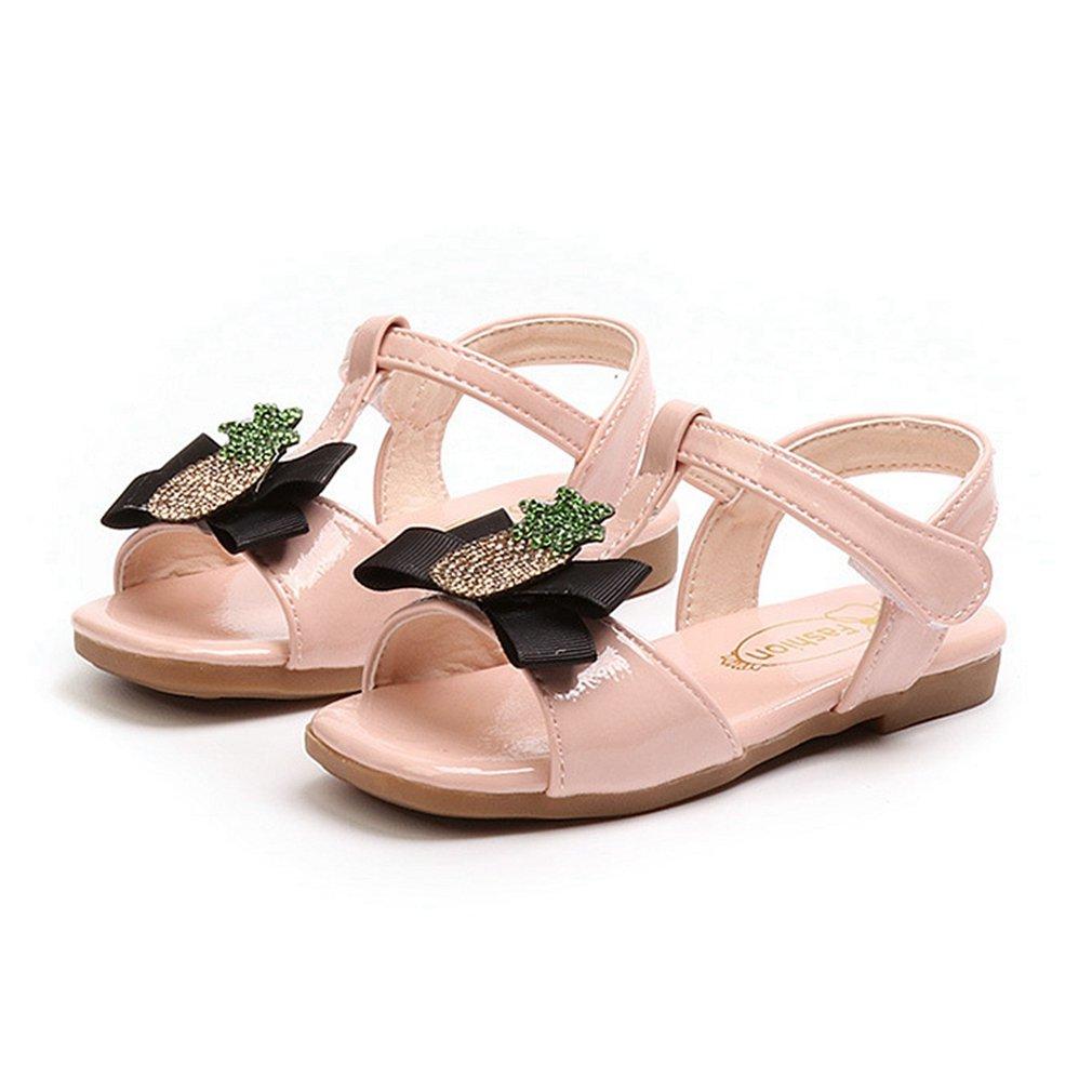 CYBLING Toddler Girls T-Strap Sandals Summer Open Toe Princess Flat Shoes (Toddler/Little Kid)