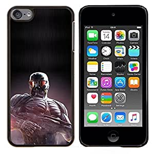 Qstar Arte & diseño plástico duro Fundas Cover Cubre Hard Case Cover para Apple iPod Touch 6 6th Touch6 (Crisis Future Soldier)