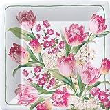 Ideal Home Range 8 Count Square Paper Plates, 7-Inch, Contessa White