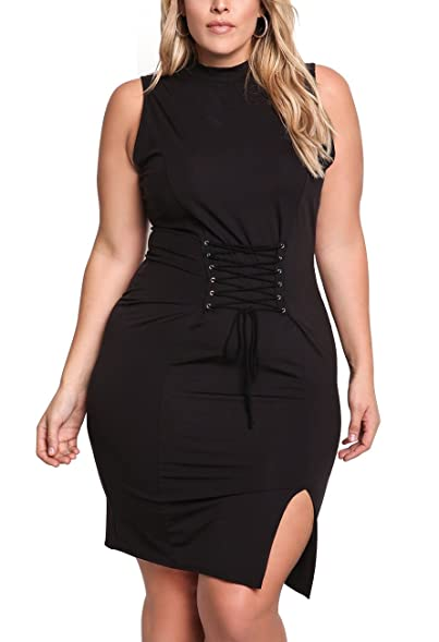Loukeith Juniors Plus Size Sheer Cocktail Party Dresses Bodycon