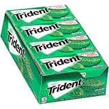 Trident Sugar Free Gum, Spearmint, 18 Count (Pack of 12)