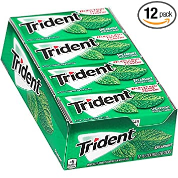 Amazon trident sugar free gum spearmint 18 piece 12 pack trident sugar free gum spearmint 18 piece 12 pack negle Images