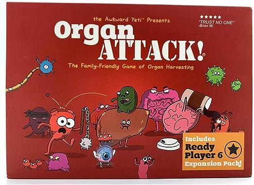 ICVDSRG Organ Attack! Juego De Cartas De Ataque De óRganos Humanos (VersióN En IngléS): Amazon.es: Hogar