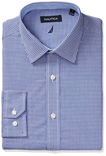 nautica-mens-classic-fit-gingham-spread-collar-dress-shirt-navy-18-neck-34-35-sleeve