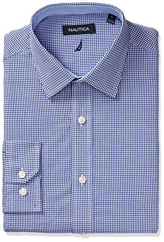 Nautica Classic Gingham Spread Collar