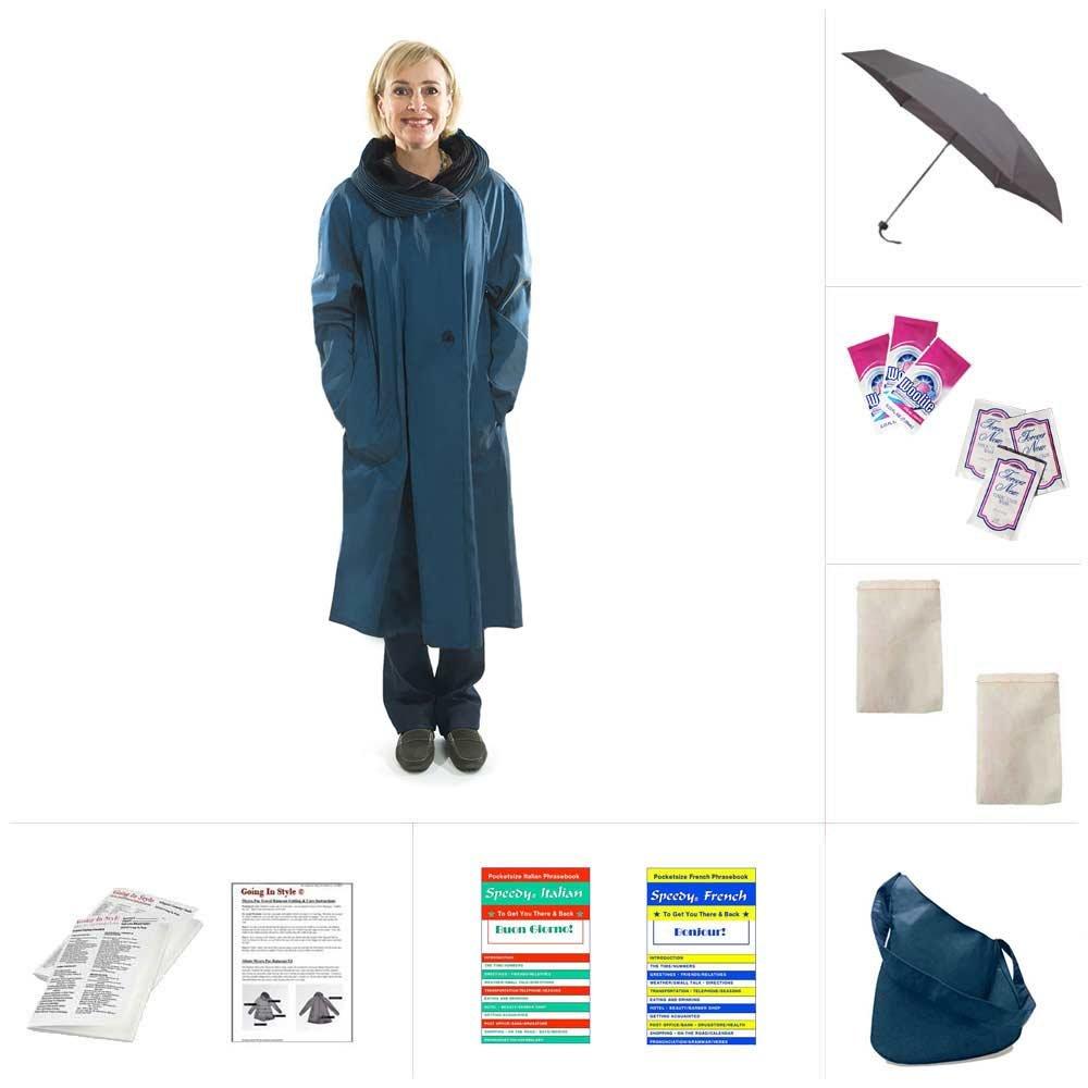 Mycra Pac Tea Length Donatella Fashion Travel Raincoat