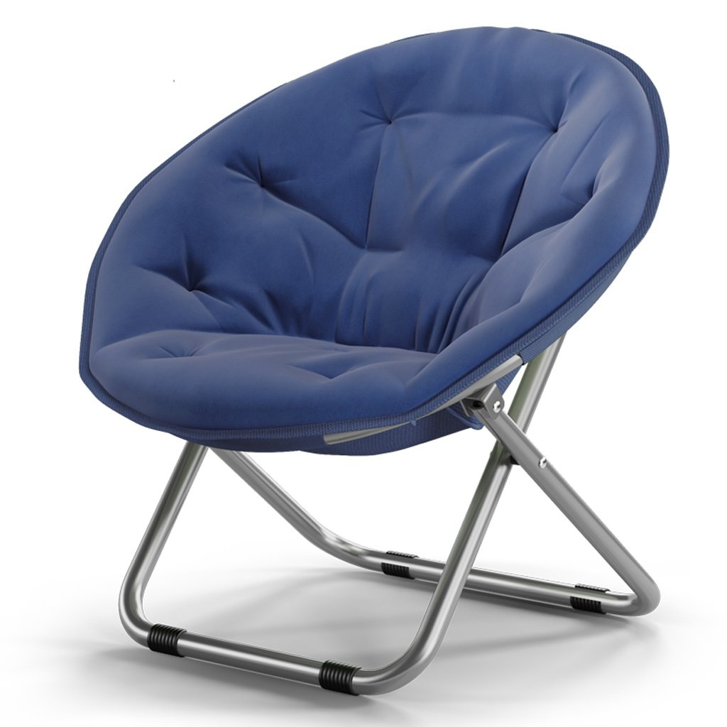 Chairs Chen- Adult Moon Sun Loungers Lazy Radar Lounge Folding Round Sofa Oxford Fabric Thick Upright Cotton Steel Goam