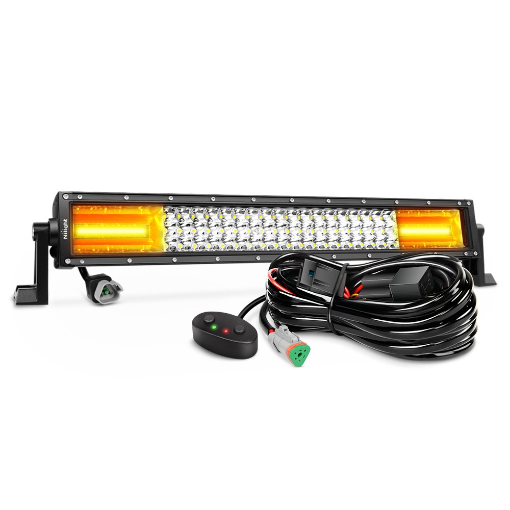 Nilight Led Light Bar 22inch 270w White Amber Flash High Quality Spot Flood Hid Work Driving Wiring Loom Harness Triple Row 13500lm Combo Off Road Lights For Trucks With