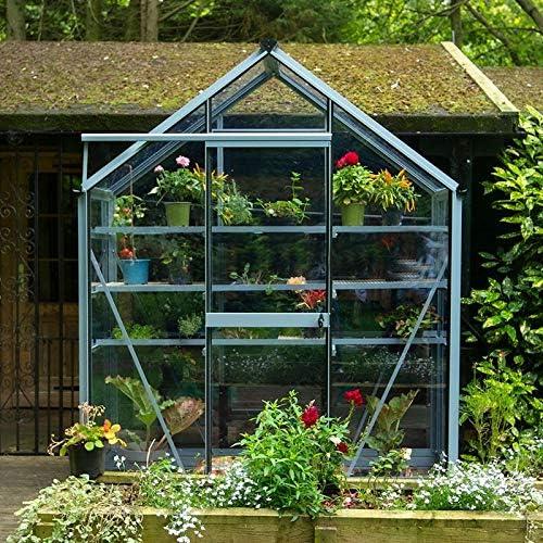 Crystal Clear acristalamiento de vinilo de PVC), diseño de invernadero,/Protector de mesa – 19 M: Amazon.es: Jardín