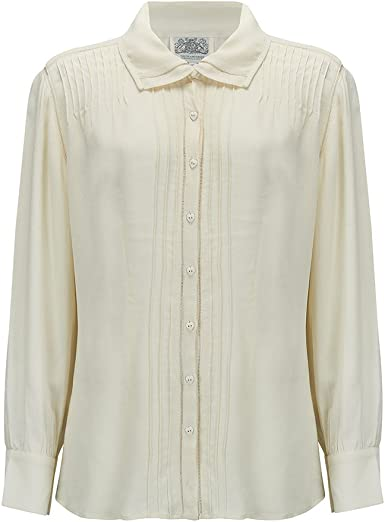 Lacey Blouse in Cream by The Seamstress of Bloomsbury Authentic Vintage 1940/'s Style