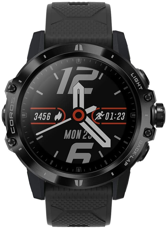 Coros VERTIX GPS Adventure Watch with Heart Rate Monitor, 60h Full GPS Battery, 24/7 Blood Oxygen Monitoring, Sapphire Glass, Barometer, ANT+ & BLE, Strava & Training Peaks