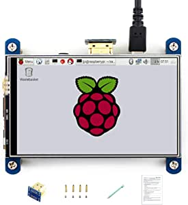 "Waveshare 4,3/"" Touch Screen Resistiv HDMI 480×272 ha per Raspberry Pi Display LC"
