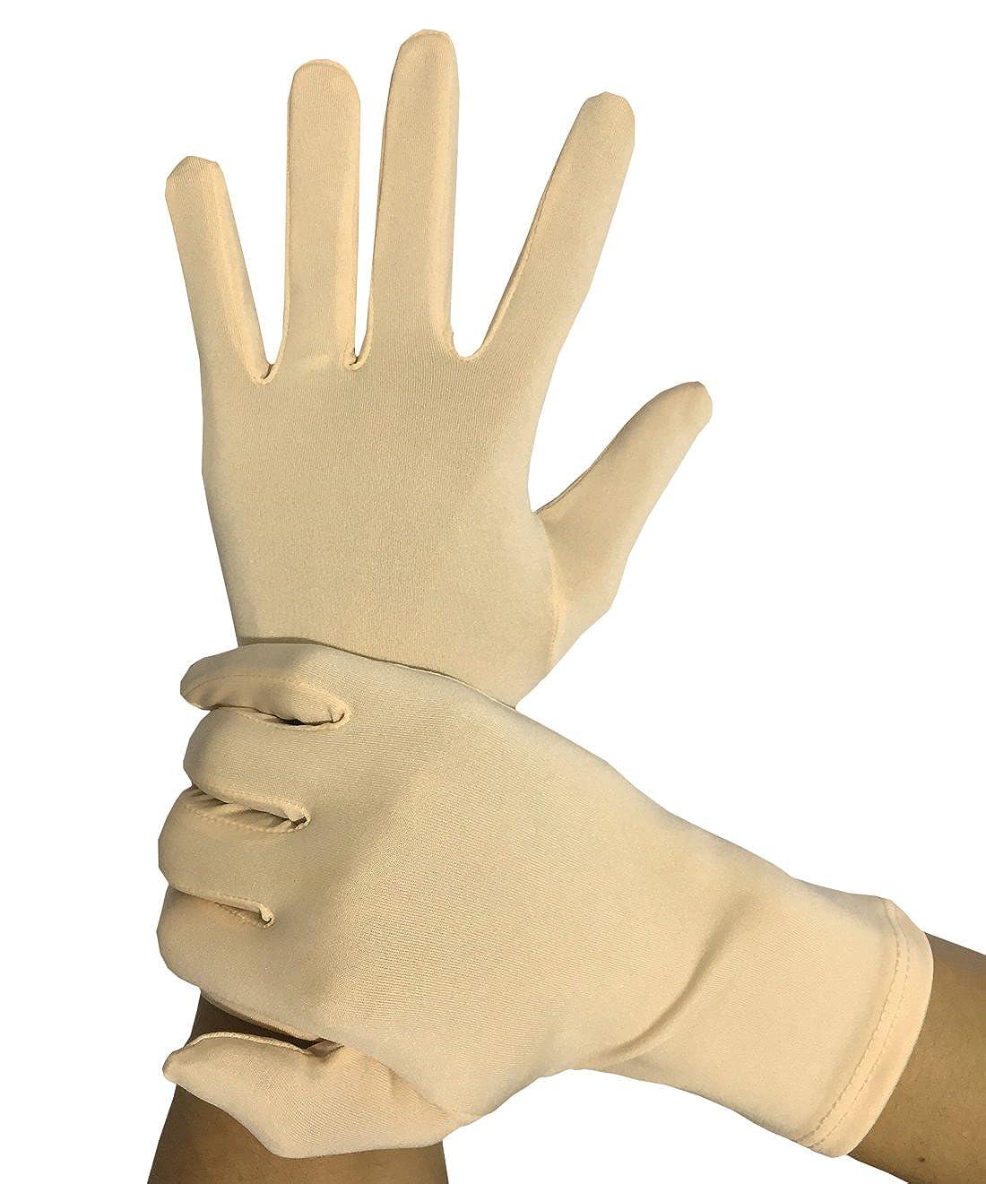 Amazon.com: Seeksmile Adult Lycra Spandex Gloves (Free Size, Beige):  Clothing