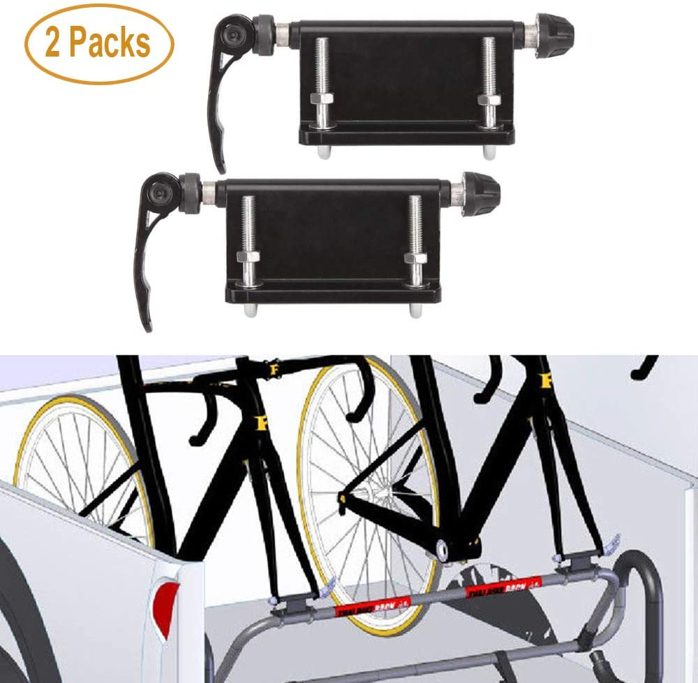 Aluminum Screw Bicycle Fork Holder Bike Support Mount For Pickup Truck Bed Rack