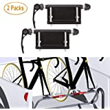 ALAVENTE 2 Pcs Bicycle Quick-Release Alloy Fork Block Mount Car Rack Carrier Holder for Car Pickup Bed