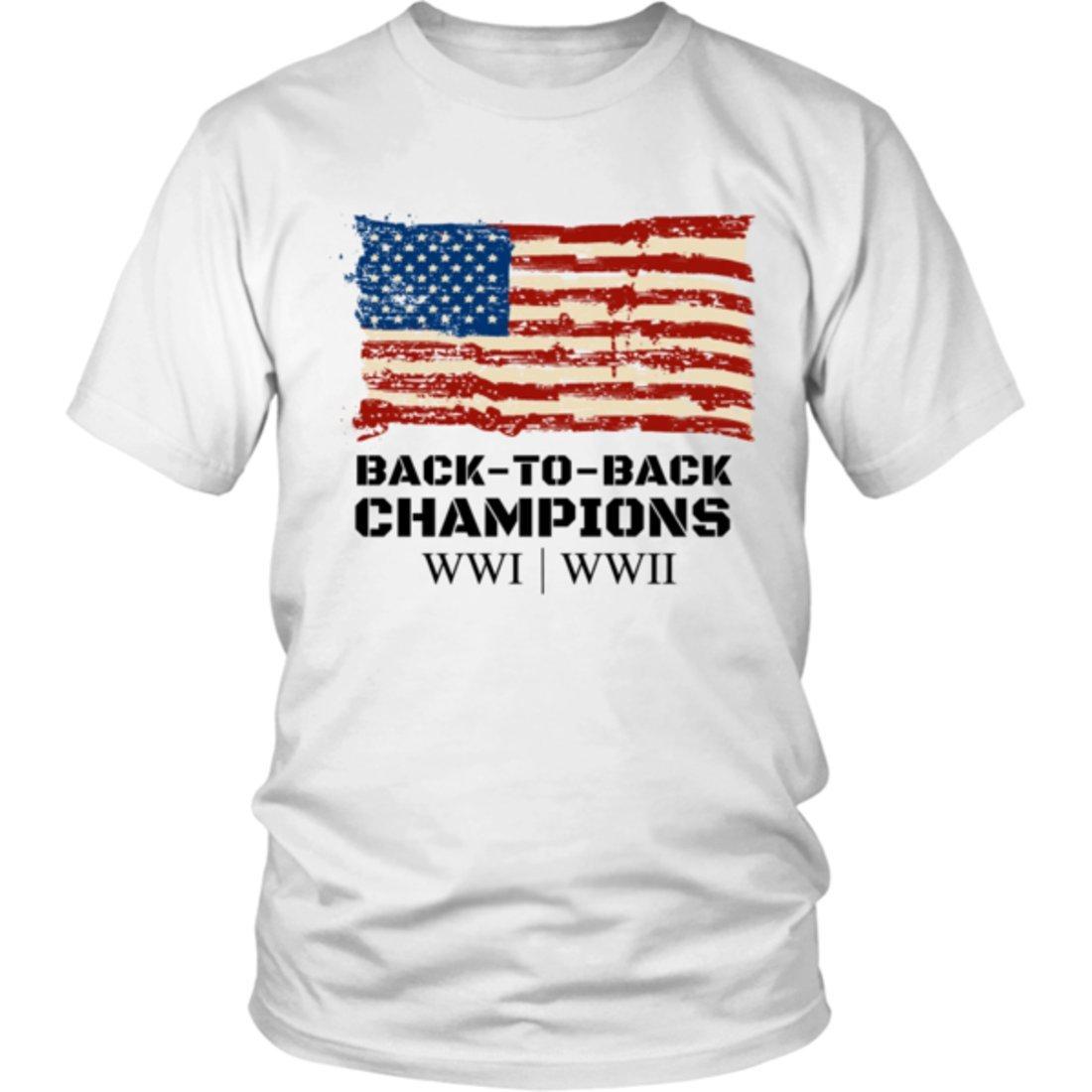 Back-to-Back World War Champs Shirt Black Lettering-PL
