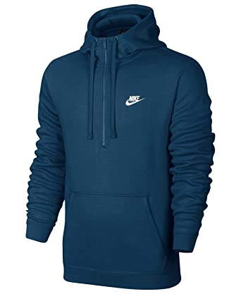 36fd45be451 Nike Men's Fleece Half-Zip Hoodie Sweater at Amazon Men's Clothing ...