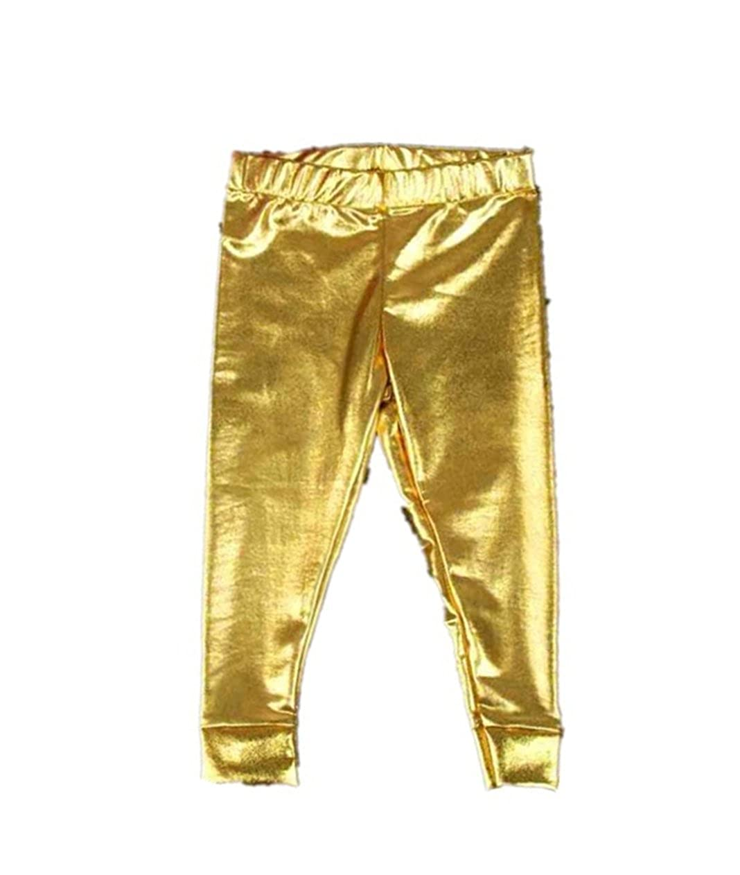 Kingko® Baby Girls Boys Fashion Leggings Faux Leather Gilding Full Length Skinny Pants Trousers KINY-XP6650