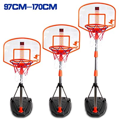 Lorchwise 97-170cm Basketball Stand,Height Adjustable Basketball Hoop Kids Basketball Rack with Scoring Device,Kids Basketball Back Board Stand Net Basketball Hoop Set for Kids Gift: Sports & Outdoors