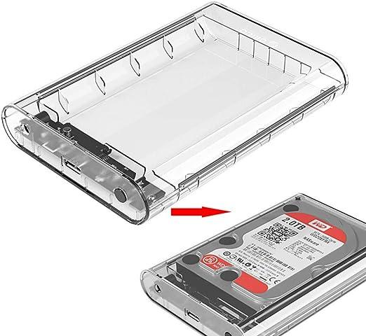 Caja De Disco Duro Transparente De 3.5