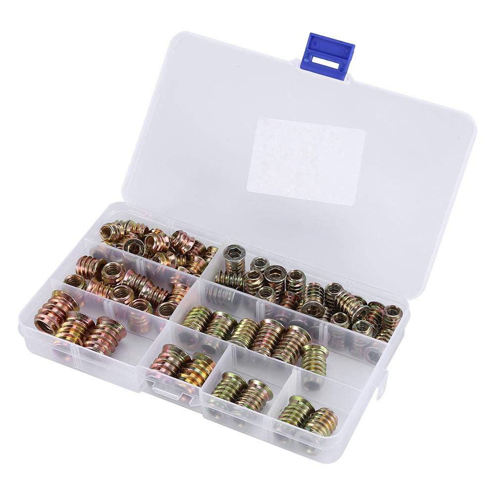 High Hardness Long Service Life for Home Wood Assembly Link Screw Kit Simple to Use Iron Insert Nut Screw and Nut