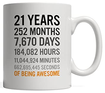 21st Birthday Gift 21 Twenty One Years Old Months Days Hours Minutes