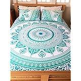 Twin Multi Color Green Ombre Mandala Bedding Duvet Cover Hippie Bohemian Doona Cover With Pillowcase