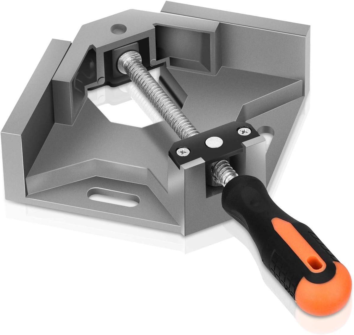 Arancia Morsetti angolari in Lega di Alluminio attrezzo da Carpentiere a 90 Gradi con Impugnatura a T Vipxyc Morsetto angolare ad Angolo retto
