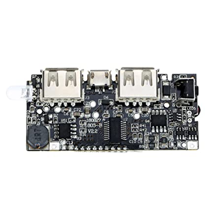 61d6d5d2340 Amazingdeal365 Doble USB 5V 1A 2.1A Banco de Energía 18650 Cargador de  Batería Tarjeta del