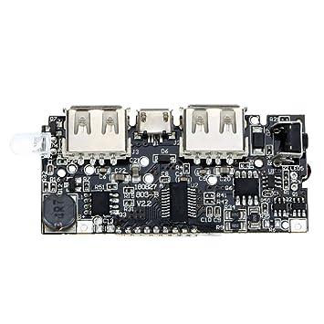 Amazingdeal365 Doble USB 5V 1A 2.1A Banco de Energía 18650 Cargador de Batería Tarjeta del Módulo de PCB