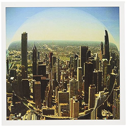 3dRose Chicago Skyline fisheye - Greeting Cards, 6 x 6 inches, set of 6 (gc_26368_1)