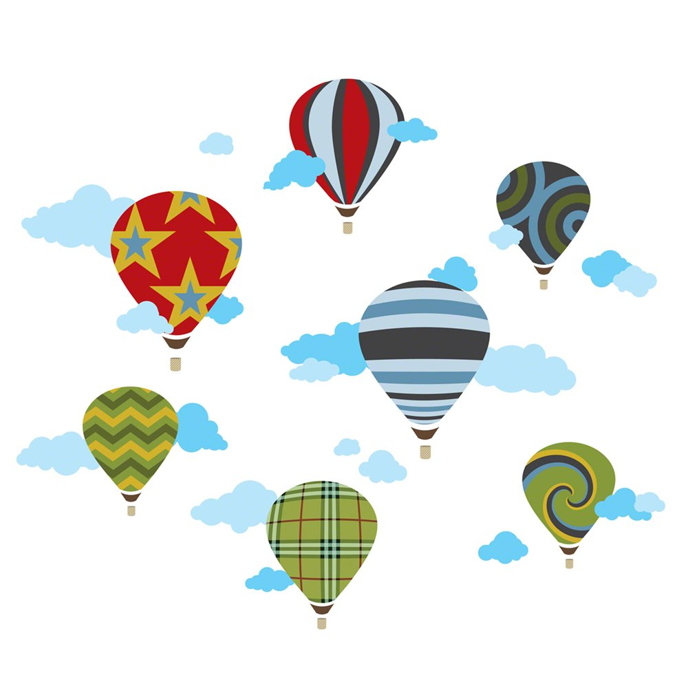 stickers in south africa  value forest - wallcandy arts wall decal set of  hot air balloons wall stickers