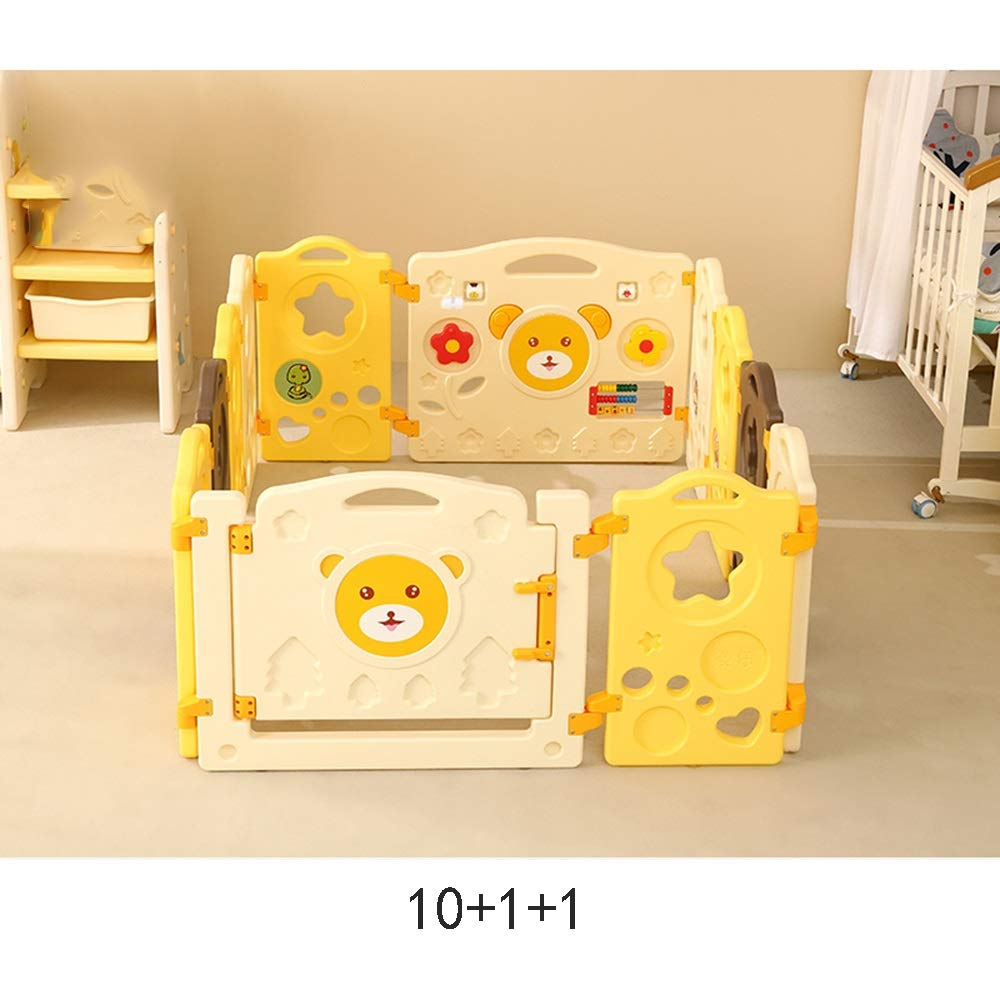XIAOMEI ベビーセーフクローリング幼児フェンス屋内ホームベビーガードレールゲームフェンスフェンスマルチサイズオプション ベッドの手すり (サイズ さいず : 10+1+1) 10+1+1  B07J5LZG45