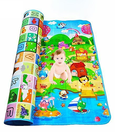 Sukhkar Waterproof Double Side Baby Play Crawl Floor Mat for Kids Picnic School Home (Multicolour, Color and Design May…