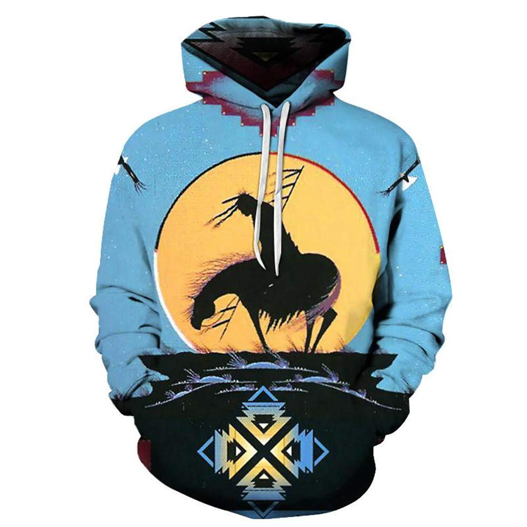 A-ZIPWPORD 3D Prints Unisex Funny Hoodies Loose Autumn Winter Hooded Coat EU Size