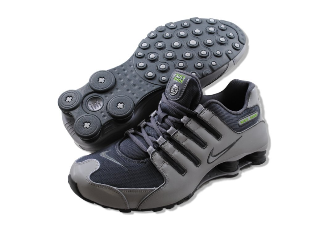 e9ab27062347 style Nike Shox NZ Men Running Shoes Dark Grey Wolf Grey-Dark Grey Dark  Iris cheap offer