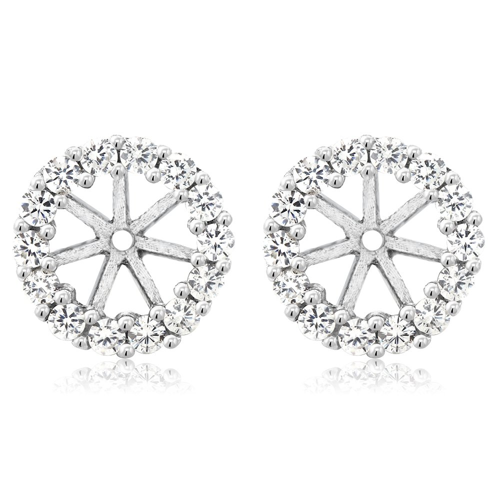 Gem Stone King 925 Sterling Silver Earring Jackets for 5mm Round Studs by Gem Stone King