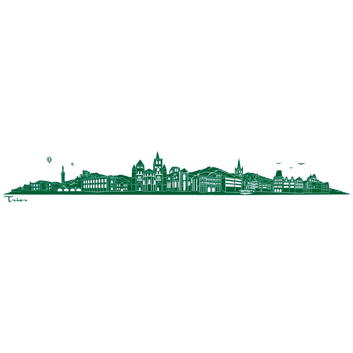 WANDKINGS Wandtattoo - Skyline Trier (ohne Fluss) - 240 x x x 36 cm - Schwarz - Wähle aus 6 Größen & 35 Farben B078SC42H1 Wandtattoos & Wandbilder 9dfdca