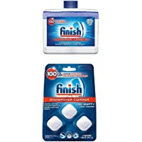 Finish Dual Action Dishwasher Cleaner: Fight Grease & Limescale, Fresh, 8.45oz and Finish in-Wash Dishwasher Cleaner…