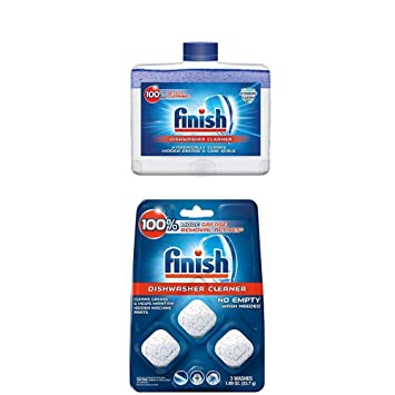 Amazon.com: Finish Dual Action limpiador de lavavajillas ...