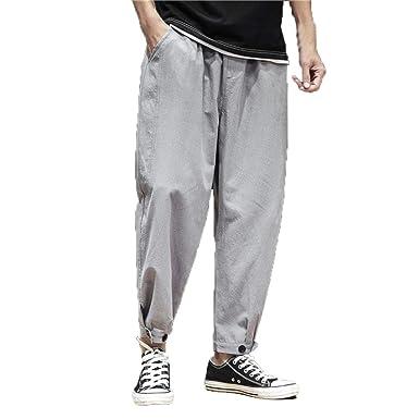 Homstar pantalones informales ajustados y elásticos para hombre ...
