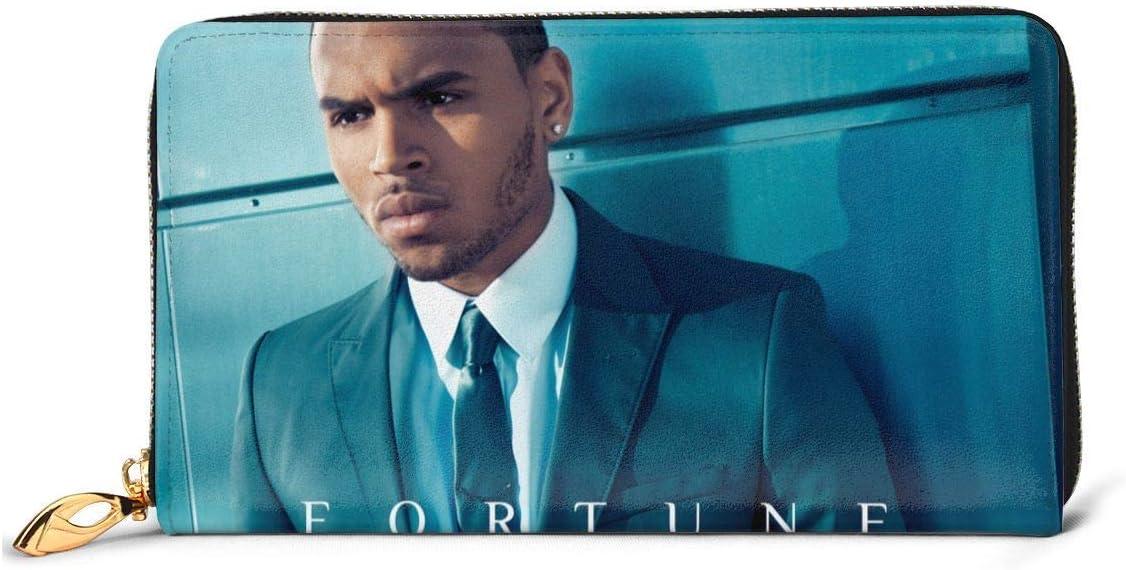 Billetera JHGFG Billetera de Cuero Chris Brown, Paquete de Tarjeta, Billetera Plegable, Billetera de Moda, Billetera Personalizada Personalizada