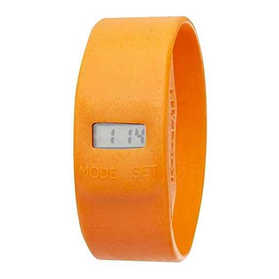 Too Late TL0173 - Reloj digital de cuarzo unisex, correa de silicona color naranja: Amazon.es: Relojes