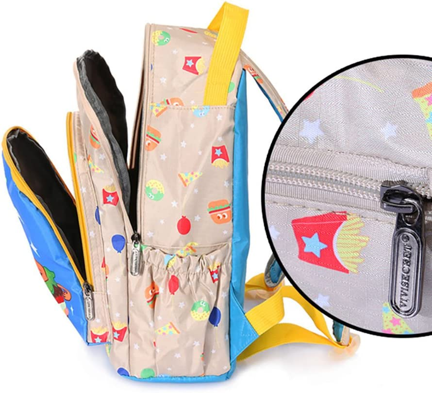 LongYu Cartoon Kids SchoolBags Small Backpack Childrens Cartoon Backpack Waterproof Nylon Color : Blue