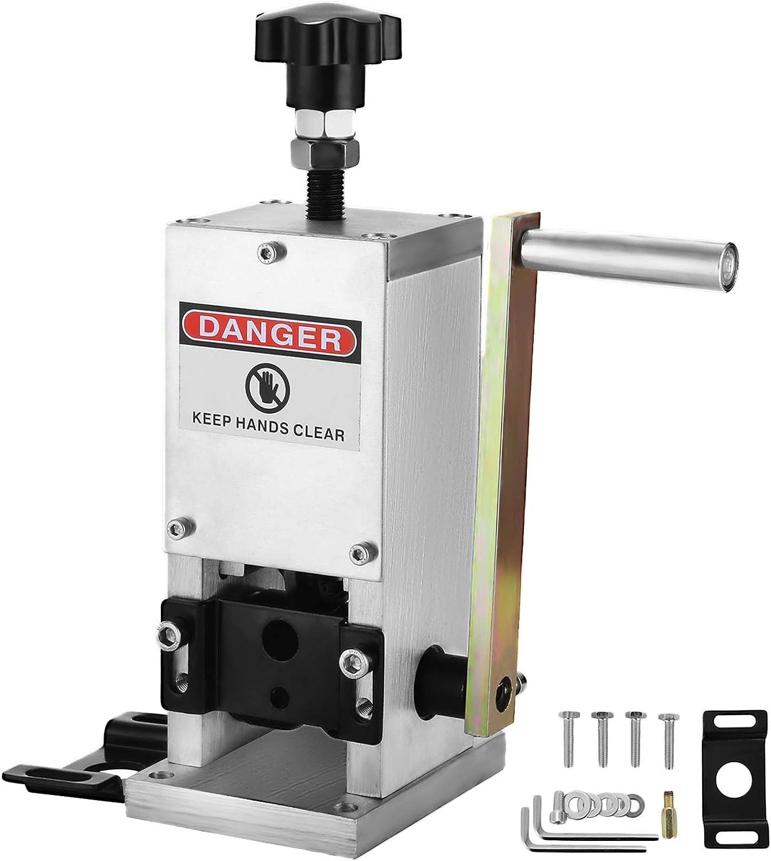 VEVOR Máquina de Pelacable, Peladora de Cables de Cobre de 1,5-25 mm, Herramienta para Pelar Chatarra de Alambre de Cobre