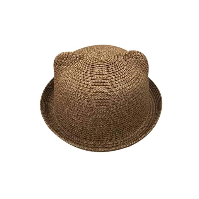 ea980e6bd12 Amazon.com  Skyingfly Summer Spring Women Lady Straw cat Ears Shade Sun hat  Beach Hat (Beige)  Clothing