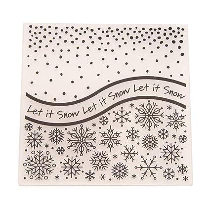 Amazon Com Haayward Plasticdot Snowflake Embossing Folder