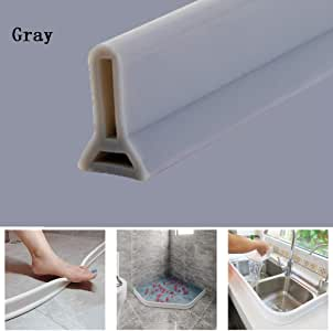 Tira impermeable de silicona flexible, umbral de ducha, tapón de ...