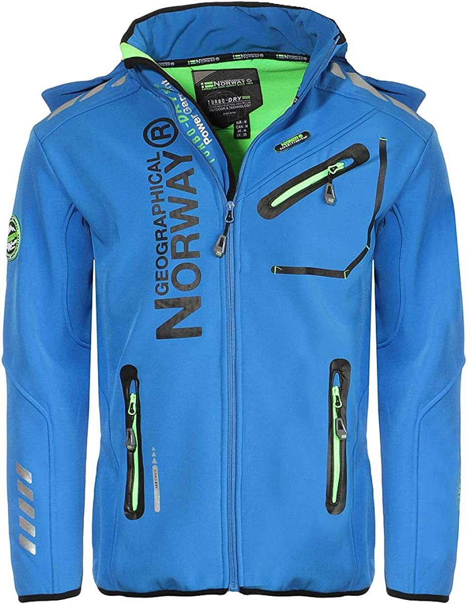 Geographical Norway River/&Forrest Mens Softshell Jacket Outdoor waterrepellent