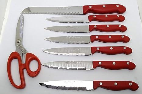 Set di coltelli da cucina quttin professionale con coltello a